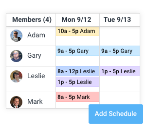Attendance scheduling