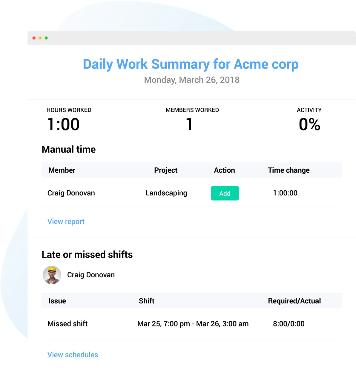 time reporting for Jira