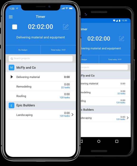 Mobile freelancer time tracker