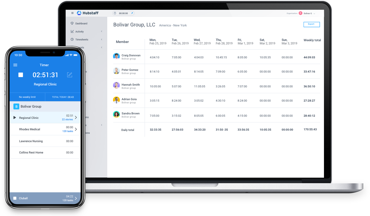Home Health Care Time Tracking & Timesheet Software | Hubstaff