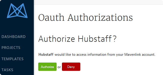 Hubstaff and mavenlink oAuth