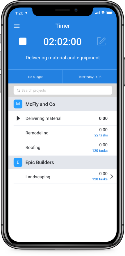 keep track of work hours with a simple iphone app